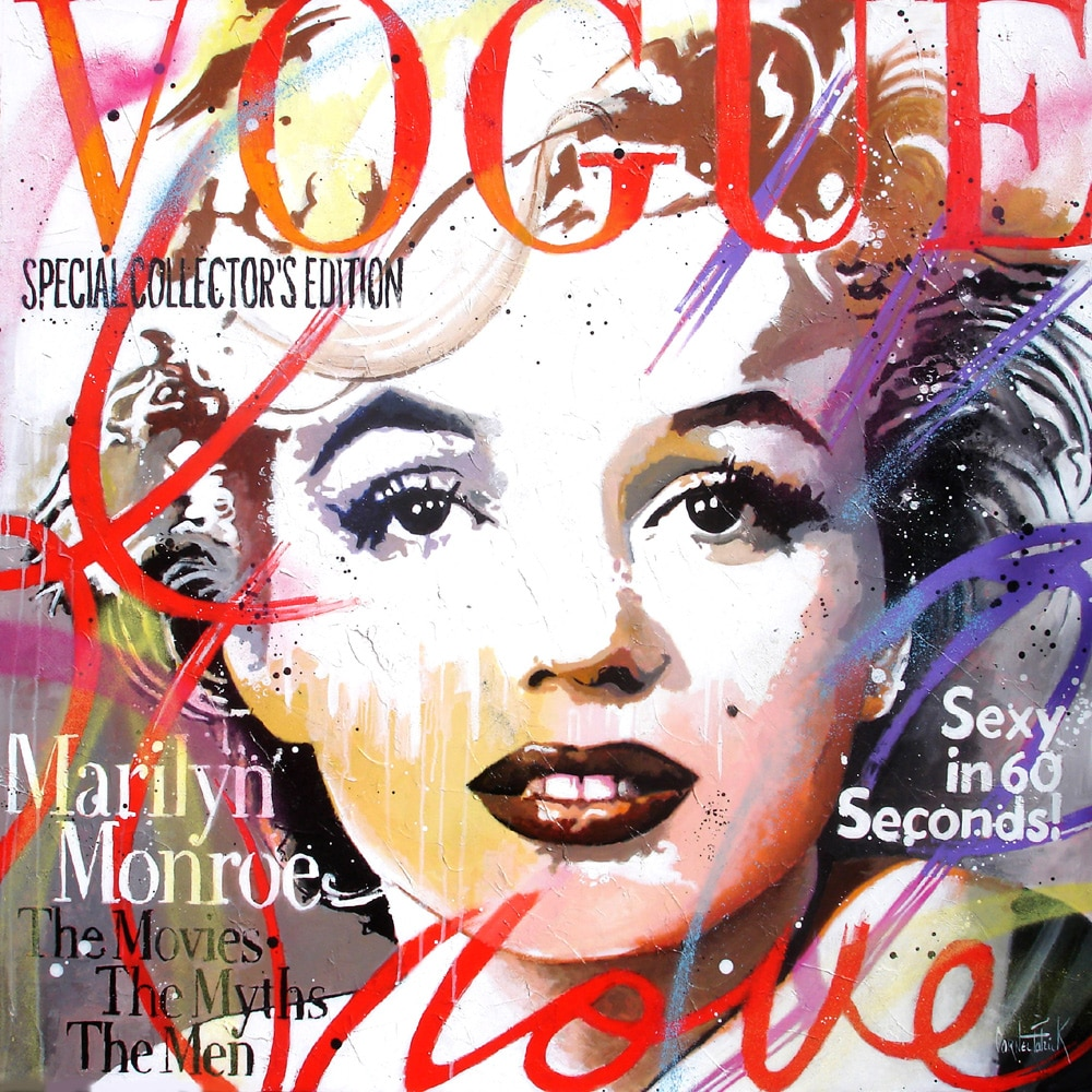 Original pop art painting Marilyn Monroe