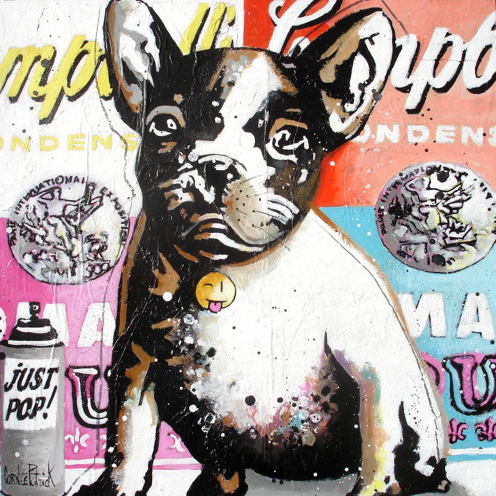 original French bulldog painting