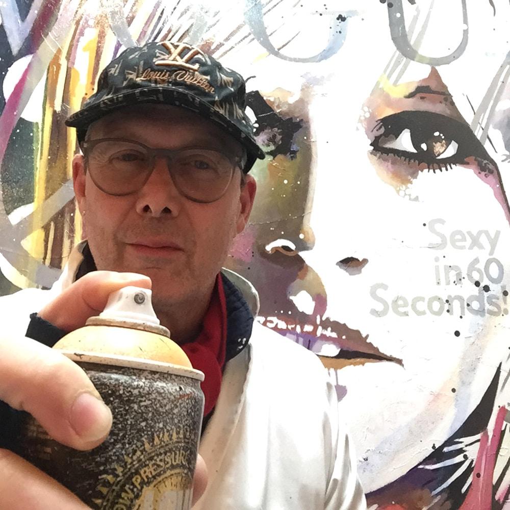 L'artiste Patrick Cornée, artiste peintre pop art