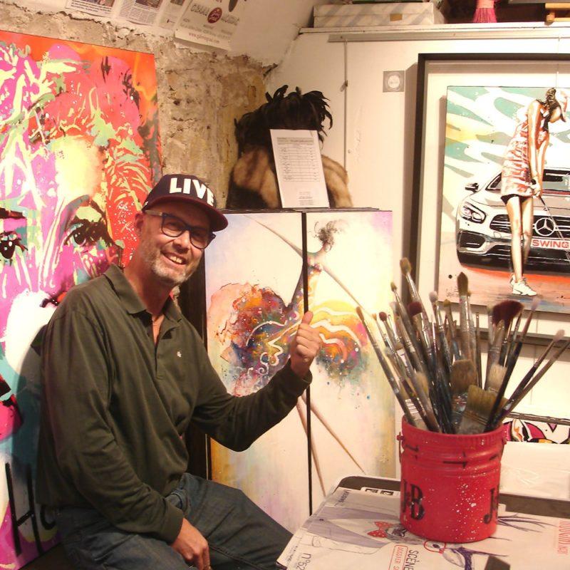 Présentation de Patrick Cornée, artiste pop street art
