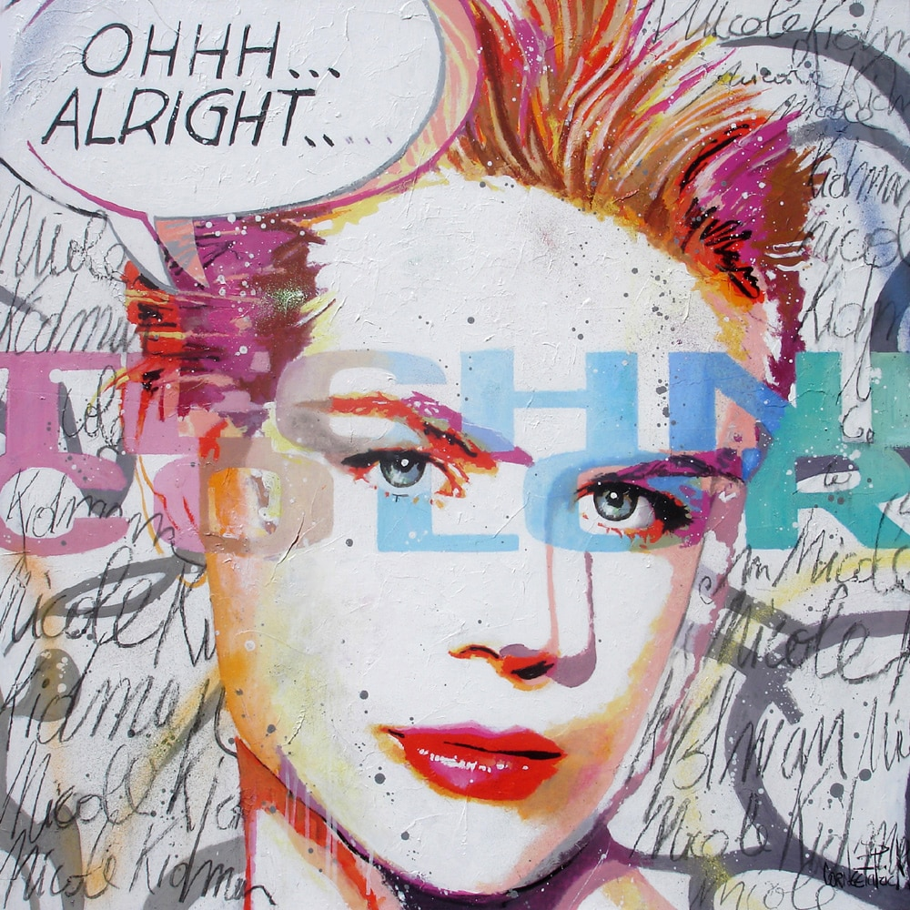 Pop art original portraiture Nicole Kidman