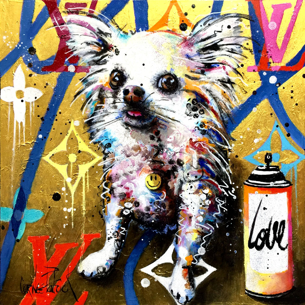 peinture original Chihuahua