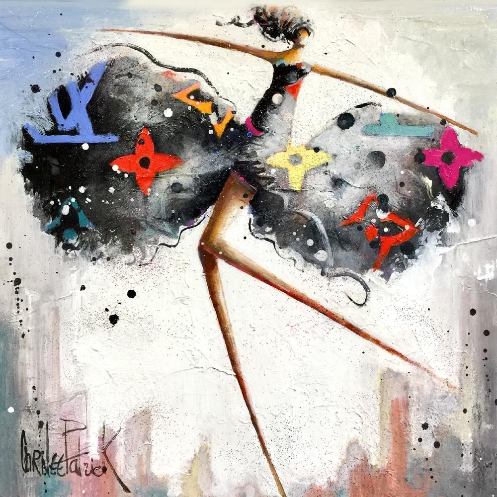 unique and original painting dancer