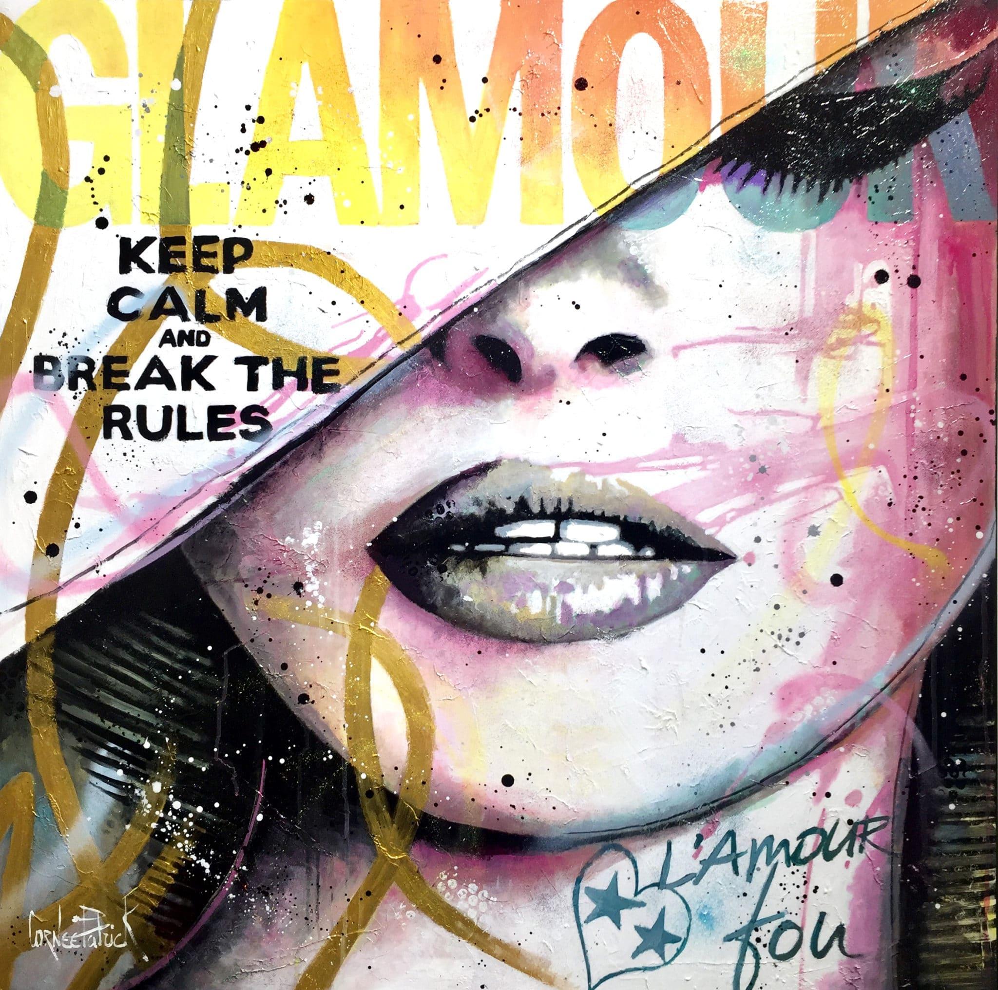 tableau pop art Brigitte Bardot