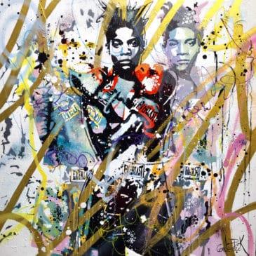 tableaux street art Basquiat