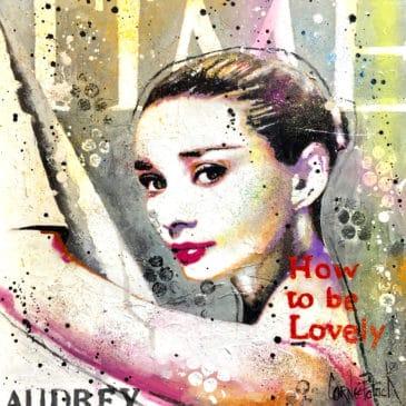 Peinture pop art Audrey Hepburn