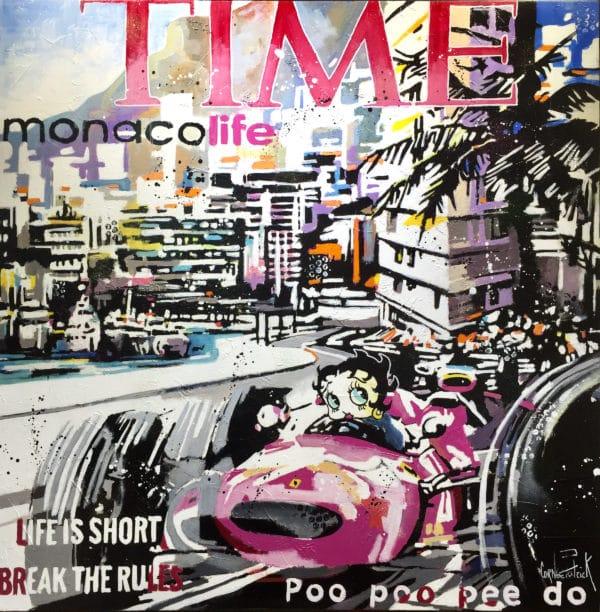 Tableau Pop ART Betty Boop à Monaco