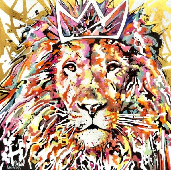 Tableau street art lion